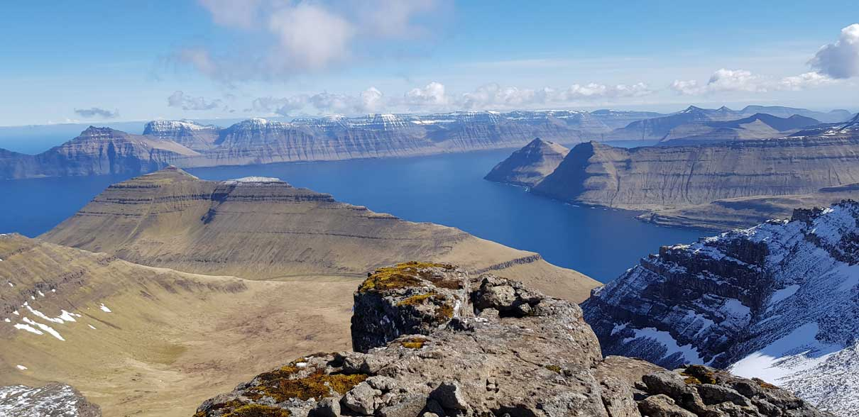 Slættaratindur, the Highest Mountain in the Faroe Islands