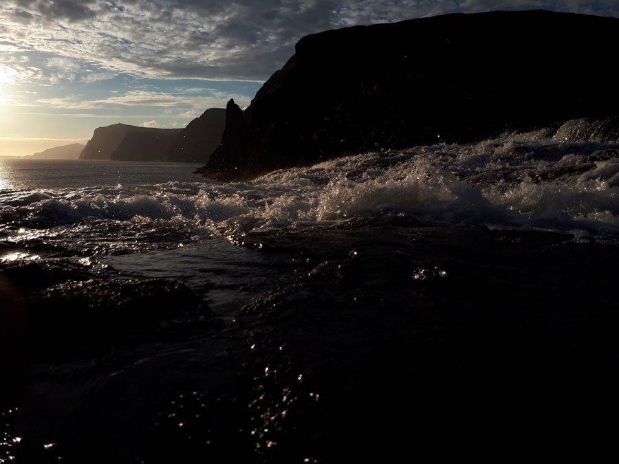 View of Bøssdalafossur in Vágar, Faroe Islands