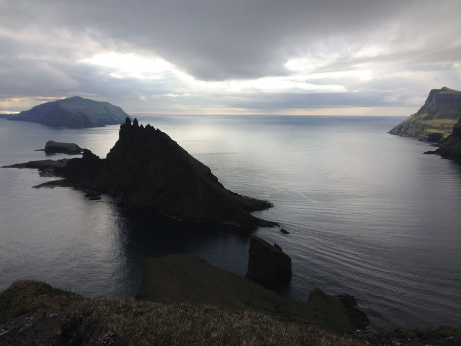 View of Sørvágsbjørgini (Dunnudrangarnir) in Vágar, Faroe Islands