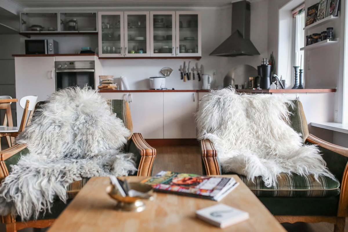 Living room inside apartment